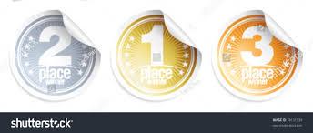 halloween medals golden silver bronze medals winner stickers stock vector 78131539