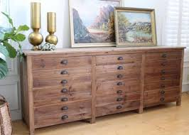 wood flat file cabinet rustic shabby chic dresser no 359