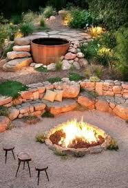 Boulder Landscaping Ideas Boulder Landscape With Firepit By Boulderimages Com Via Flickr