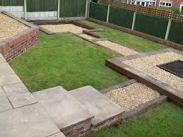 used british railway sleepers patio