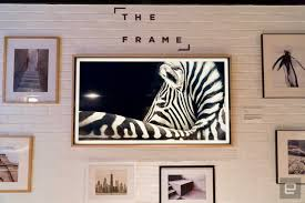samsung u0027s the frame tv blends in with the art on your wall