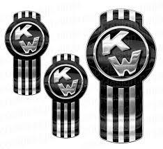kenworth logo 3 pack of chrome and black kenworth emblem skins u2013 cool design ninja