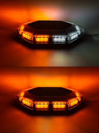orange led light bar magnetic mounted emergency led light bar with toggle adapter 360