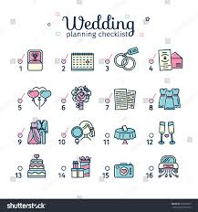 template design wedding planning color checklist stock vector