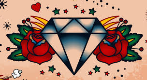 tattoo old school diamond diamond tattoo meaning tattoos with meaning