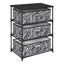 zebra print storage bins 4 drawer bin storage unit with zebra