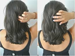 long hair in front shoulder length in back how to leave back view of medium length bob hairstyle