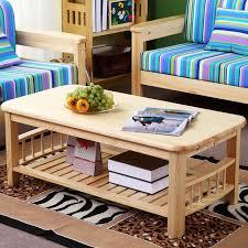 living room center table designs pine wood modern center table with shelf storange living