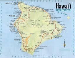 map kona usa map of hawaii