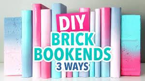 3 diy brick bookends hgtv handmade youtube