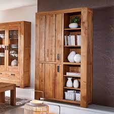 Wohnzimmerschrank Auf Englisch Massivholz Bücherregal Donostia Aus Wildeiche Pharao24 De