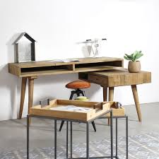 bureau pivotant bureau scandinave pivotant 3 niches 1 tiroir made in meubles