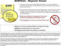 asepkids register online