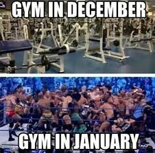 New Years Gym Meme - some new year resolutions that never going to happen