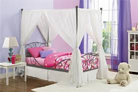 canopy twin bed youtube