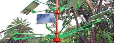 india designed solar power tree can light up to 5 houses