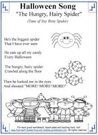 printable lyrics halloween songs for kids printable lyrics with coloring activities