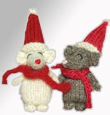 knitted christmas mini cordell owl knitted christmas decorations free pattern on