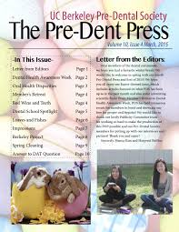 cal pds pre dent press march by cal pre dental society issuu