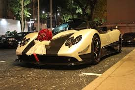 maserati pagani just married in a pagani zonda cinque