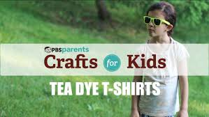 tie dye with tea crafts for kids pbs parents youtube