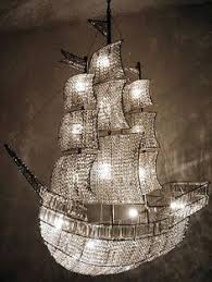 pirate ship light fixture custom made chandelier with bohemian crystals no where to put this