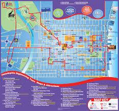 Map Of Philadelphia Pennsylvania by Philadelphia City Tour Map Map Philadelphia Sightseeing Tours