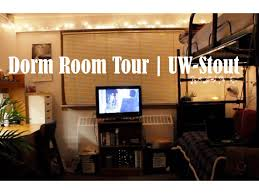 dorm room tour uw stout youtube