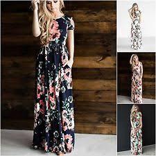 petite short sleeve casual maxi dresses for women ebay