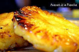 cuisiner avec la plancha recette plancha dessert à l ananas caramélisé à la plancha