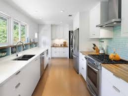 fair picture of small galley style kitchen decoration using modern