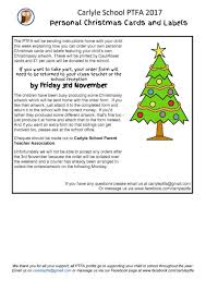 ptfa personal christmas cards and labels carlyle infant and