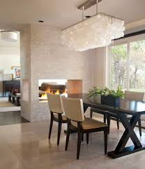 Dining Room Lighting Ideas Lighting Rectangular Shade Capiz Shell Chandeliers With Chrome