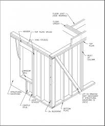 wood framed wall structural design of wood framing for the home inspector internachi