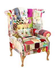 bespoke wingback patchwork chair penny lane mad hatter kelly