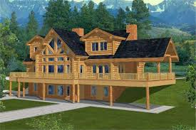 country cabin plans log houseplans home design ghd 1036 9699