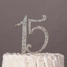 rhinestone number cake toppers 15 cake topper gold quinceañera 15th birthday