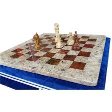 chess set 15 inch red u0026 coral