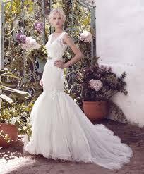 sleeveless wedding dress gorgeous lace and tulle sleeveless v neck mermaid wedding