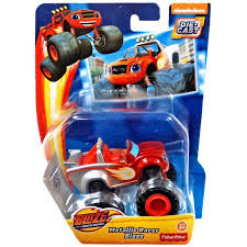 Blaze U0026 Monster Machines Metallic Racer Blaze Diecast Car