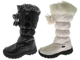 womens winter boots uk womens fur lined pom pom boots ski moon jogger warm