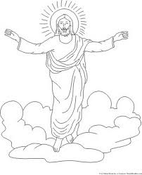 coloring page of jesus ascension ascension of jesus christ coloring pages family holiday net guide