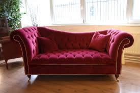 amazing red velvet chesterfield sofa furniture for elegant living