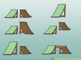 How To Build A Tent How To Build A Jump For A Dirt Bike With Pictures Wikihow