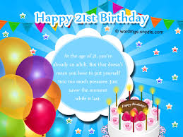 Samples Of Birthday Wishes 21st Birthday Wishes Messages And 21st Birthday Card Wordings