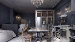 industrial studio apartment interior design