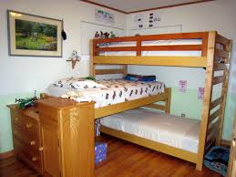 Bathroom Sets For Kids Light Brown Wooden Bunk Bed For Kids With Stairs And Pull Out