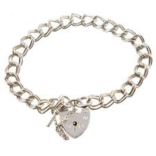link bracelet with heart images Charm school uk gt silver charm bracelets gt chunky 925 sterling jpg