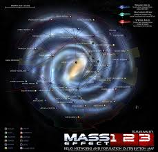 Galaxy Map Mass Effect 1 2 3 Relay Network And Population Map By Kuraiummei