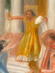 Oedipus Blinds Himself Art Depicting Art